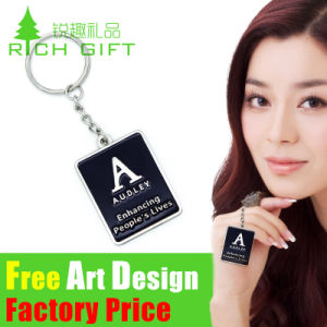 Factory Sell Club Metal/PVC Keychain with Customized Epoxy Logo pictures & photos