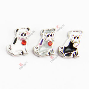 Zinc Alloy Dog Floating Charms for Fashiopn Jewellery (FC)
