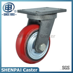 """5"""" Iron Core PU Swivel Locking Industrial Caster Wheel pictures & photos"""
