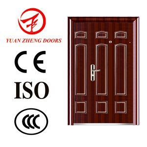 China Wood Door New Products Steel Double Security Doors pictures & photos