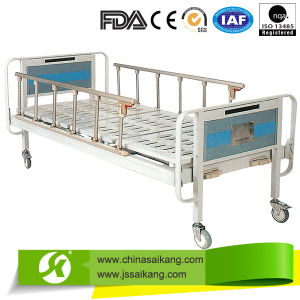 Cheap Chinese Manual Hospital Bed with Silence Casters pictures & photos