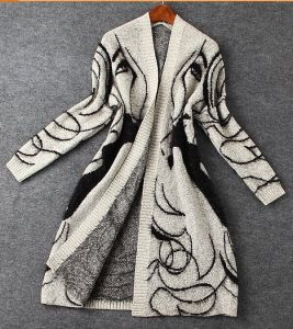 Avatar Beauty Cardigan Sweater and Long Loose Bat Sleeve Sweater (BTQ118) pictures & photos