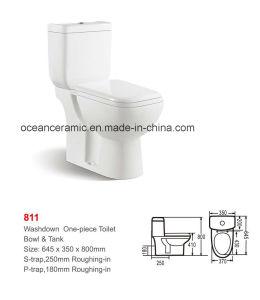 Ceramic Washdown Two-Piece Toilet (No. 811) pictures & photos