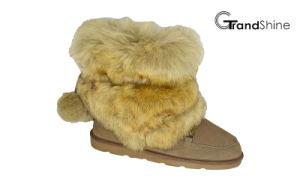 Women′s New Arrival Fur Shaft Snow Boots pictures & photos
