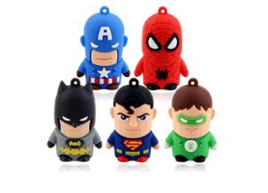10 Models Quality 3D Cartoon America Super Hero USB Flash Drive, Mixed Models, America Captain, Batman, Spideman, Ironman, pictures & photos