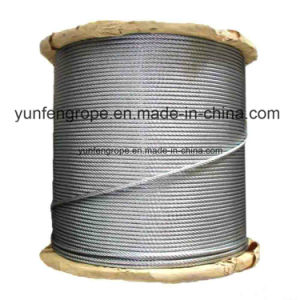 Hot DIP Galvanized Steel Wire Rope 7*19-6.0