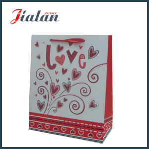 "Customize Glitter ""Love"" Valentine′s Day Shopping Gift Paper Bag pictures & photos"