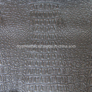 Top Grade Crocodile Design for Upholstery Leather (QDL-53202) pictures & photos