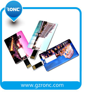 Cheap Price Rectangle Card-Shaped USB Flash Drive pictures & photos