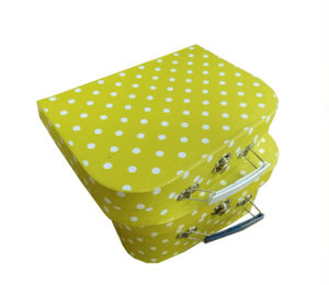 Hotsale Paper Suitcase Shape Lunch Boxes with Printing Custom Artwork pictures & photos