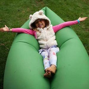 Fast Inflatable Laybag Sleeping Bag Air Sleep Camping Sofa Bed