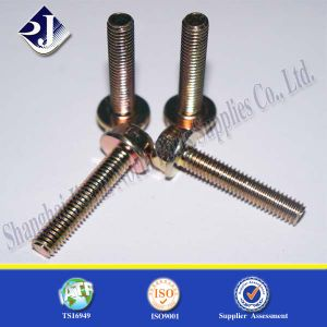 Yellow Zinc Finished Hex Flange Bolt pictures & photos