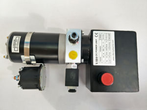 24V 0.8kw Mini Power Unit with Solenoid Valve Release Valve pictures & photos