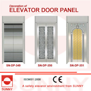 Concave Golden Stainless Steel Door Panel for Elevator Cabin Decoration (SN-DP-349) pictures & photos