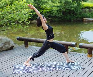 Wet Absorbent Microfiber Yoga Mat pictures & photos