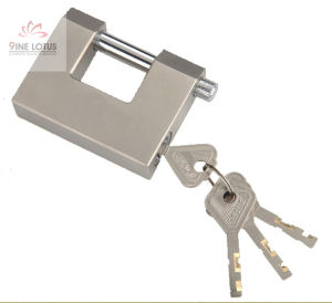 "High Quality ""D"" Shape Disc Solid Brass Blade Padlock pictures & photos"