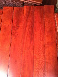 C&L Classic Red Color Big Leaf Acacia Wood Flooring