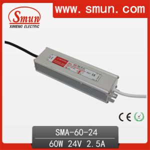60W 2.5A 12-24VDC LED Driver Waterproof IP67 Switching Power Supply pictures & photos