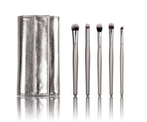 Silver Color Pocket Makeup Cosmetic Brush with Synthetic Hair pictures & photos