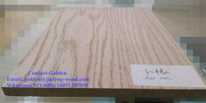 High Quality Red Oak Veneer MDF pictures & photos