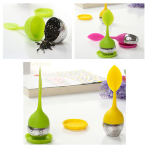 Popular Leaf Shape Silicone Tea Infuser with Stainless Steel pictures & photos