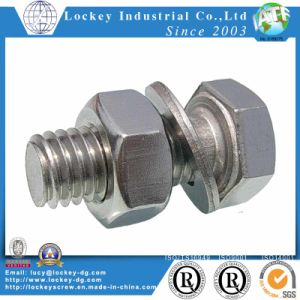 Stainless Steel Hex Bolt with Hex Nut and Washer Stainless Steel Fastener pictures & photos