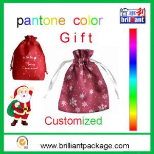 Merry Christmas Non Woven Nylon Gift Drawstring Bag pictures & photos