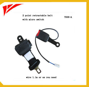 2 Point Retractable Polyester Safety Belt with Switch pictures & photos