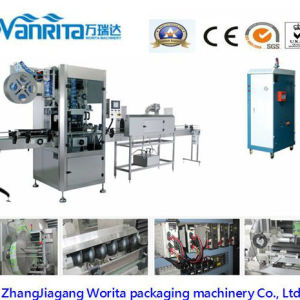 Full-Auto PVC Label Shrink Wrap Labeling Machine pictures & photos