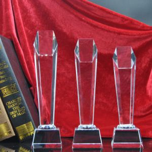 K9 Material High Quality Glass Award Star Crystal Trophy pictures & photos