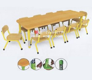 2-Seater Wooden Table and Chair for Kids (SF-19K-2) pictures & photos