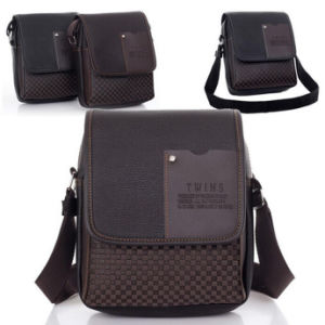 Business Leisure Eco-Friendly Cheap PU Men Shoulder Messenger Bag (54087-1) pictures & photos