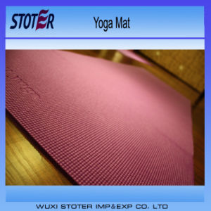 Environmentally Friendly Extra Thick PVC Yoga Mat Pass 6p pictures & photos