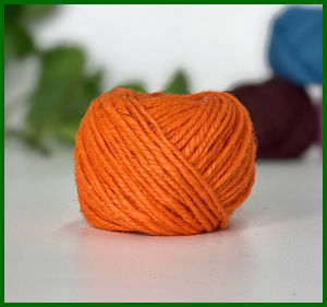 3ply Dyed Jute Fiber Yarn (Orange) pictures & photos