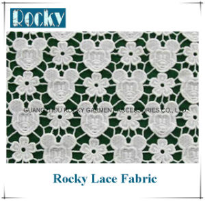 Fashion Garment Accessories Water Soluble Lace Fabric pictures & photos