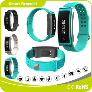 Heart Rate Blood Pressure Pedometer Sleeping Monitor Distance Calorie OLED Display Tracking Bracelet pictures & photos