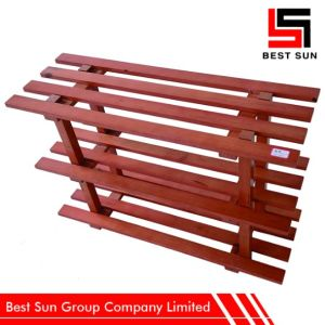 Pastoral Style Cheap Shoe Rack Wooden pictures & photos