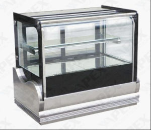 Curve Glass Door Stainless Steel Table Cake Showcase Cooler with Ce, CB, RoHS pictures & photos