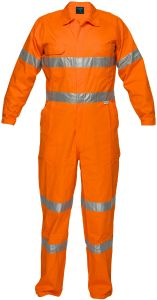 with Custom-Made Logo 100% Cotton Proban Flame Retardant Safety Coverall with Reflective Tape pictures & photos