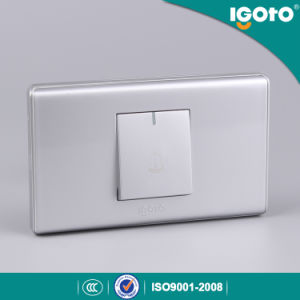118 Type Silver Color 1 Gang Door Bell Switch pictures & photos