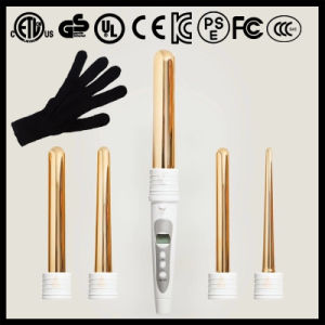 Ceramic Clipless Digital Display 5p Private label Curling Wands (A125) pictures & photos