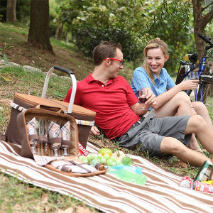 Soft 600d Oxford Waterproof Foldable Aluminum Picnic Basket pictures & photos