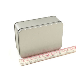 Plain Silver Tin Rectangle Boxes pictures & photos