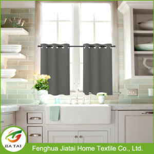 Polyester Window Tier Curtains Gray Kitchen Curtain Tiers pictures & photos