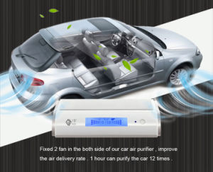 LCD Display Car Air Purifier Ionizer Gl518 for Disinfection pictures & photos