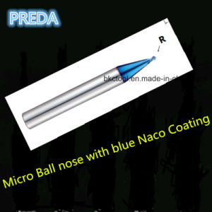 Solid Carbide Micro End Mills with Blue Naco Coating pictures & photos