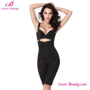 Hot Chic Zipper Black Strappy High Waist Body Shaper Underwear