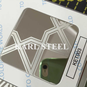 High Quality 201 Stainless Steel Color Ket011 Etched Sheet pictures & photos