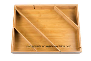 Bamboo Box Drawer and Cabinet Organizer Divider pictures & photos