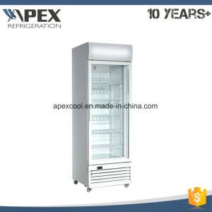 Single Glass Door Vertical Freezer / Upright Commercial Freezer 600L pictures & photos